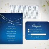 String Lights, Starry Night Wedding Invitation Set