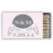 Nellie – Stripe and Banner Wedding Favor Matches