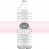 Nellie – Carnival Stripe Banner Water Bottle Labels