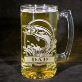 Northern Pike Personalize beer stein, groomsman gift