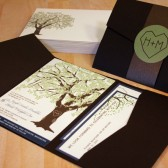 Grandfather Oak Tree Pocketfold Wedding Invitation