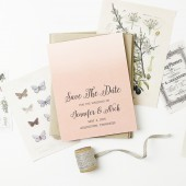 The Awesome Ombre save the date are, as always, completely customizable! Choose your favorite colors and fonts to make this save the date card the perfect one for you.
