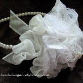 Opulent Rose Flower girl Headband