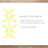 Ornament Printable Save The Date