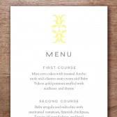 Ornament Printable Wedding Menu