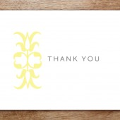 Ornament Printable Thank You Card