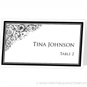Place Card Template - Ornamental Design