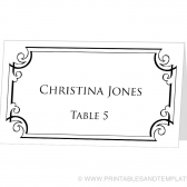 Place Card Template - Ornate Frame Design