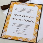 Yellow Plaid Wedding Invitation