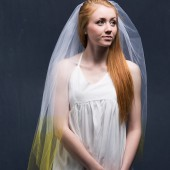 Wedding Veil Ombre Hand Dyed Colorful Veil