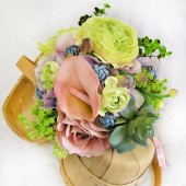 Bohemian Garden Wedding Flowers Succulent Bridal Bouquet