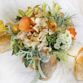 Mint Peach Wedding Flowers Country Orchard Bridal Bouquet