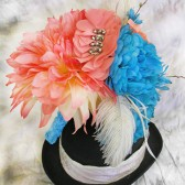 Coral Bridal Bouquet Turquoise Teal Blue Wedding Flowers