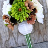 Brown Green Bridal Bouquet, Earthy Rustic Wedding Bouquet