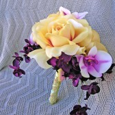 Yellow Rose Bridal Bouquet Orchid Wedding Flowers