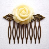 Ivory Rose Hair Comb
