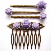 Lavender Hair Piece Set