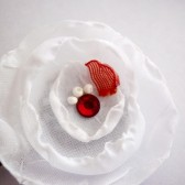 White & Red Hair Pin