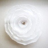 White Rose Hair Pin