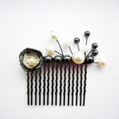 Balck and White Wedding Comb