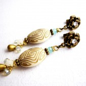 Gold and Ivory Earrings