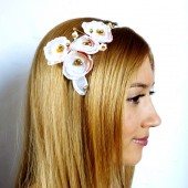 Gold & White Hairband