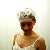White & Amber Head Piece