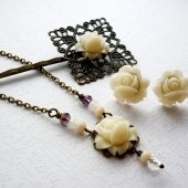 Dreamy White Floral Hair Pin