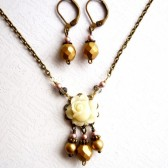 Blush and Gold Jewelry Set