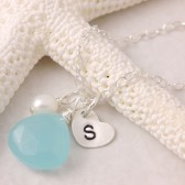 Select Your Stone - Birthstone Initial Necklace
