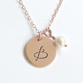 Personalized Initial Necklace Bridesmaid Jewelry Bridesmaid Gift