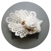 Ivory Lace Bridal Hair Comb