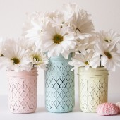 Mothers Day Painted Mason Jars
