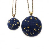 Night of Stars Cross Stitch Necklace