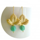 Mint Leafy Earrings