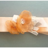 Peach Bridal Sash