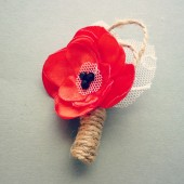 Poppy Red Boutonnier