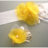 Yellow Bridal Sash