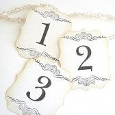 White Elegant Table Number Cards