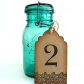 Lace Table Number Tags