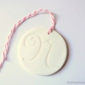 Monogram Clay Tag