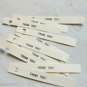 Thank You Tags - Wedding Favor and Gift Paper Tags Set of 25