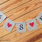 Burlap Banner Save the Date Bunting Engagement Session Photo Prop Listing Stats