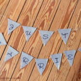 Burlap Banner Just Married Bunting Wedding Photo Prop Listing Stats