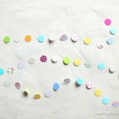 Paper Garland Circle Confetti Rainbow Color Mix