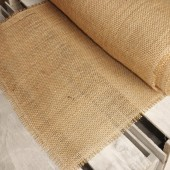 Basic Natural Fringe Burlap Table Runner