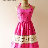 Music Pink Bridesmaid dress Party Dress