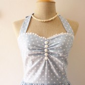 Blue Bridesmaid Dress Vintage Inspired Dress - Size XS, S, M, L, CUSTOM-