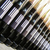 8 Pack of 50 Caliber Bottle Openers in American Flags for Groomsmen Gift