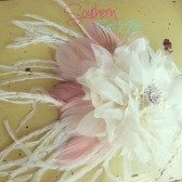 "The ""Pamela"" Bridal Hair Fascinator or Corsage"